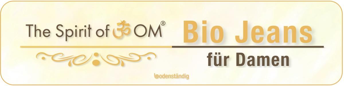 Banner Spirit of OM - Bio-kBa-Jeans für Damen
