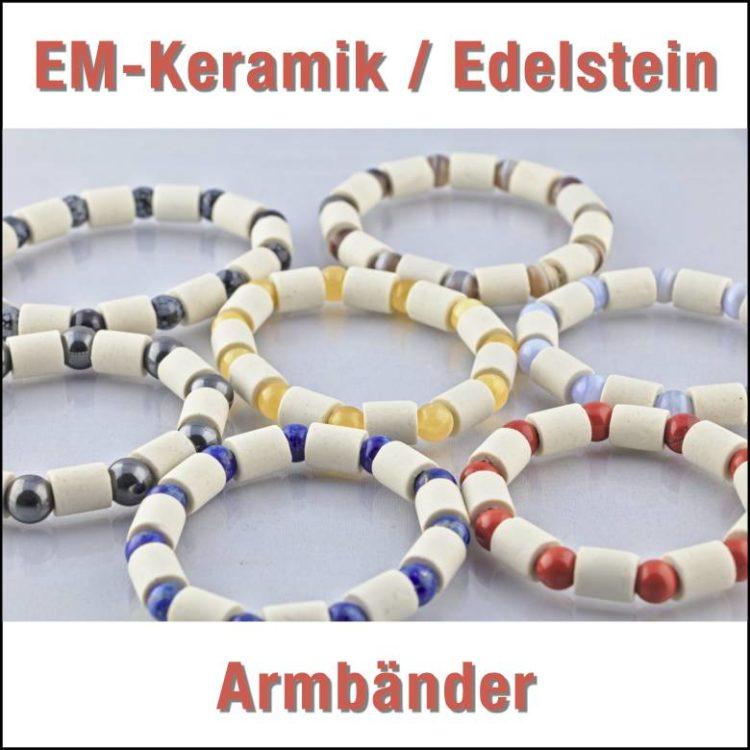 bodenständig EM Keramik Edelstein Armbänder Übersicht