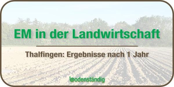 EM in der Landwirtschaft - Bachschneiders Hofladen
