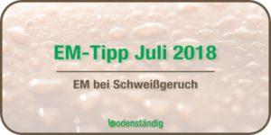 Beitragsbild EM Tipp Juli 2018 - EM bei Schweißgeruch