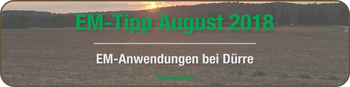 EM-Anwendungen bei Dürre - der bodenständig EM-Tipp im Monat August 2018