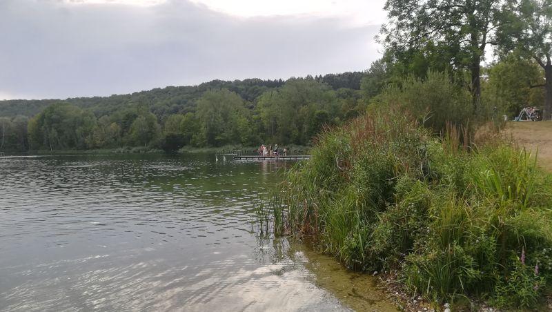 Dangos Day 2018 bodenständig - Dangos werfen in den Pfuhler Baggersee