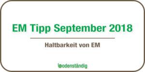 bodenständig EM Tipp für den Monat September 2018