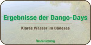 Topp Wasserqualität im Pfuhler Badesee Baggersee