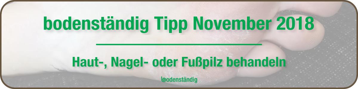 Banner bodenständig Tipp 2018 - Fußpilz Nagelpilz Hautpilz mit EM effektive Mikroorganismen behandeln